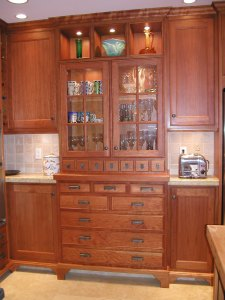 New cherry cabinets