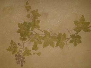 Grape vine stencil