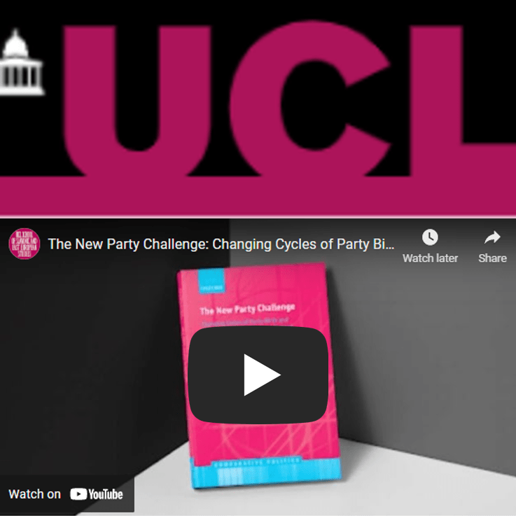 University College London Book Talk for The New Party Challenge