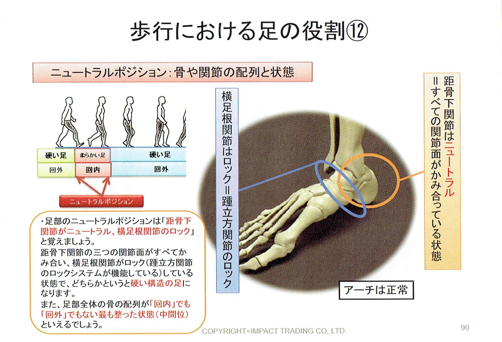 距骨下関節中間位