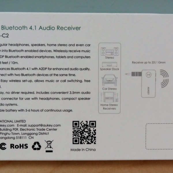 Aukey Bluetooth Audio Receiver