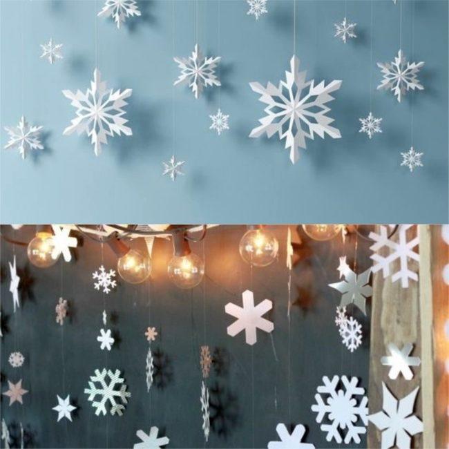 Flocos de neve.