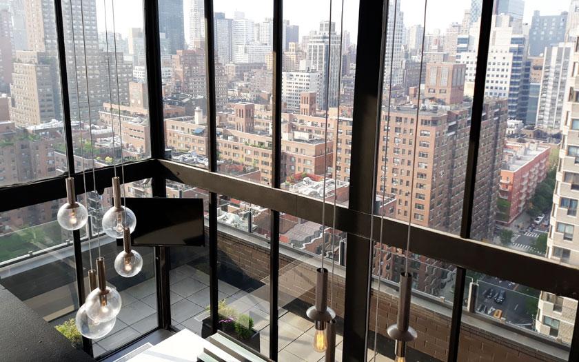 Aussicht aus einem Hotel in New York (Bild: Jürgen Kroder)