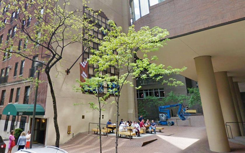 New York - Weltgrößte Schachbrett (Bild: Google Street View - https://www.google.com/maps/@40.7543715,-73.9711997,3a,75.6y,166.65h,108.55t/data=!3m6!1e1!3m4!1sdCSlXirac9ipXwvQKy2-kw!2e0!7i13312!8i6656?hl=en)