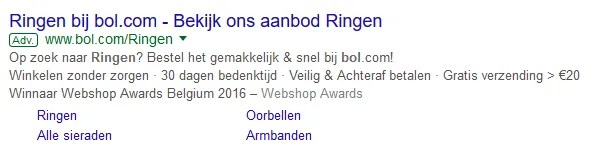 Wat is Google Adwords - voorbeeld advertentie  | Buitengewoon Communicatie in Averbode