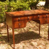 Mid 19th Century English Writing Desk with leather top and lineage documents
