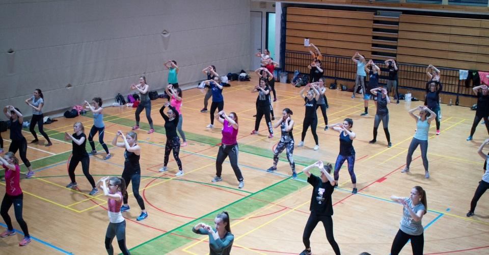 Maraton aerobike 2019 - Skupinska vadba zumbe