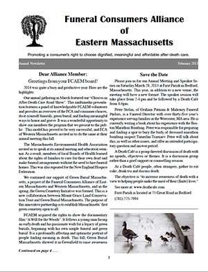 2015 Annual Newsletter