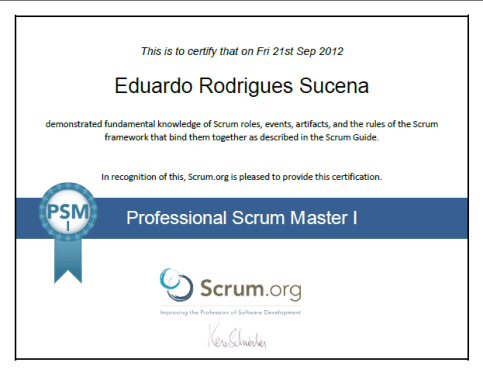 Pass Professional Scrum Master PSM certification in 6 steps - Eduardo Rodrigues Sucena