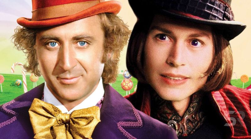 Two versions of Willy Wonka