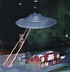 Fry's Electronics flying saucer miniature