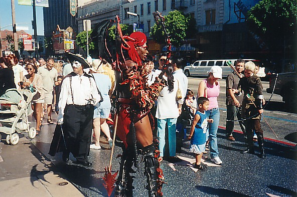 Hollywood Boulevard costumed characters
