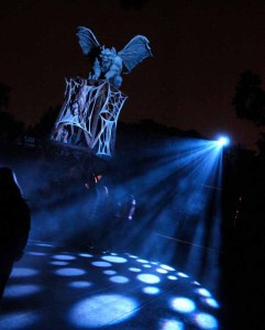 Best Los Angeles Halloween Theme Park Attractions: A gargoyle overlooking Knott's Scary Farm