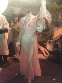 A headless woman at Western House of Horror