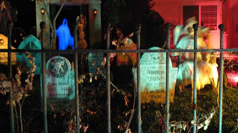 mourning rose manor yard haunt display