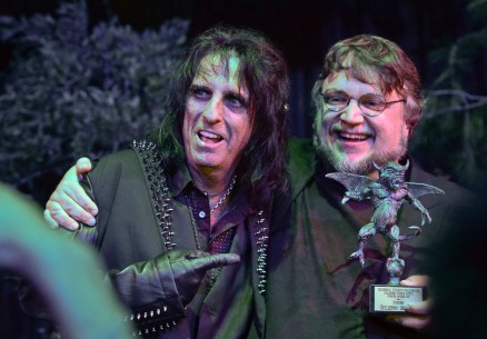 Alice Cooper and Guillermo del Toro with Eyegore Award