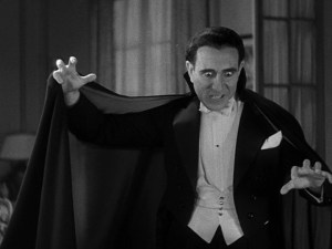 Carlos Villarias in the Spanish-language version of DRACULA, shot simultaneously with the English version