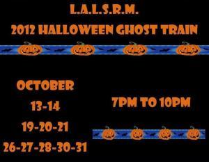 Ghost Train 2012 schedule