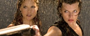 Resident Evil Afterlife Ali Larter and Milla Jovavich