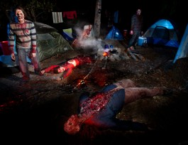 Campground victims of the Walking Dead on the Terror Tram tour at Halloween Horror Nights 2012
