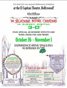 nighmare before christmas flier