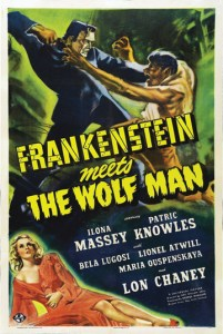 Frankenstein Meets the Wolf Man vertical poster