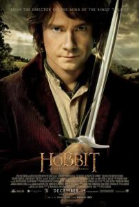 The Hobbit An Unexpected Journey poster Bilbo with sword
