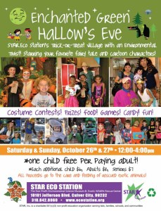 Enchanted Green Hallows Eve 2013 flier