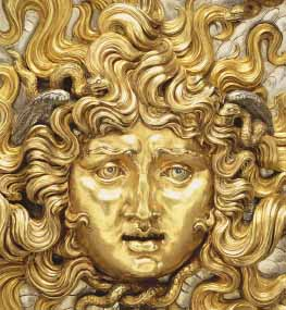 Medusa (detail), 1911. Vincenzo Gemito (Italian, 1852-1929). Partially gilt silver. The J. Paul Getty Museum, Los Angeles.