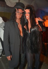Slash and Perla Hudson (Photo by Charley Gallay/Getty Images for MAC Cosmetics)