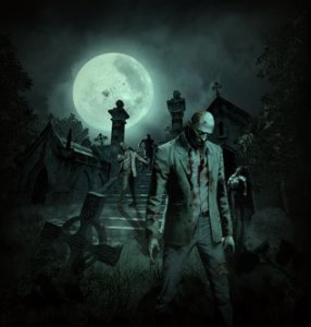Zombies in Cemetery