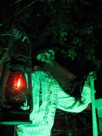 Mouring Rose Manor skeleton with lamp