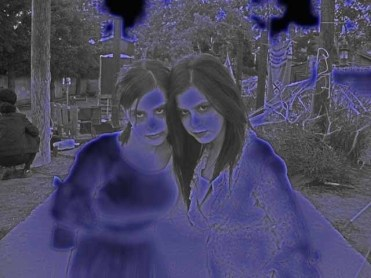 Voices of Pioneer Cemetery two dead girls neon glow