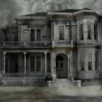 haunted house Halloween wallpaper