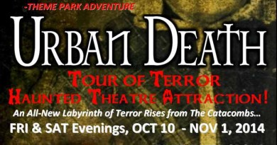 Urban Death Tour of Terror 2014 ad