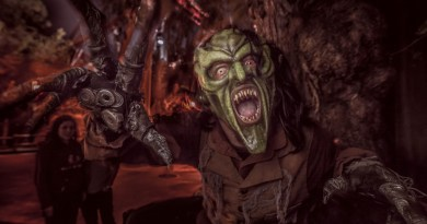 The Green Goblin at Knotts Scary Farm.
