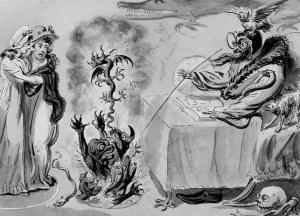 Raising Evil Spirits, 1795, by Isaac Cruikshank (British, 1764–1810)