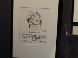 A sketch by author H.P. Lovecraft of his monstrous creation, Cthulhu. Photo by Paul Trinies.