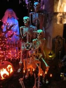 Haunting in Sylmar skeletons