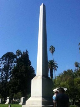 Hollywood Forever Cemetery: Griffith J. Griffith obelisk