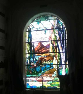 Hollywood Forever Cemetery: Window near Valentino in Cathedral Mauseum