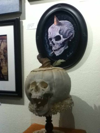 October Shadows 2014: Smoking Skull and Jack O'Lantern Skull