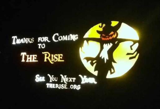 Rise of the Jack O'Lanterns 2014: Exit