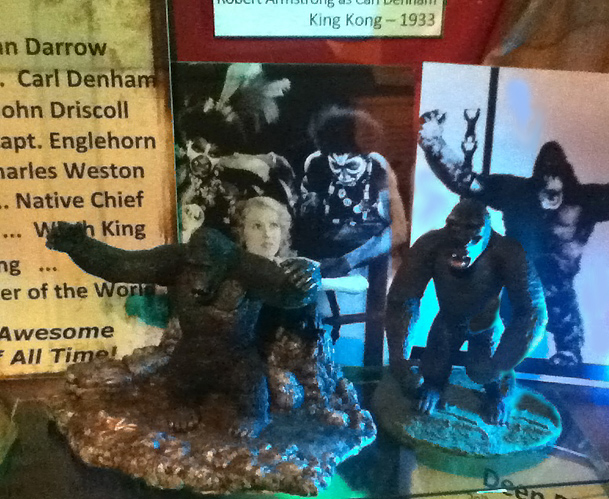 The Hollywood Museum Dungeon of Doom: King Kong models