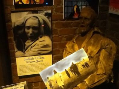 Judith O'Dea in a display of Scream Queens