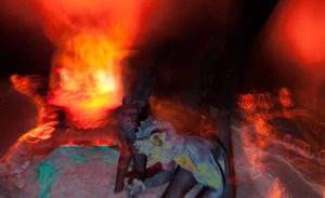 Los Angeles Haunted Hayride 2014 demons in hell. Photo by Brad Heaton
