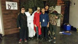 The facade in the background of this photo (taken at ScareLA) was missing from the actual haunt.