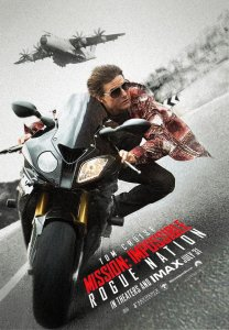 Mission Impossible Rogue Nation Cruise on motorcycle poster