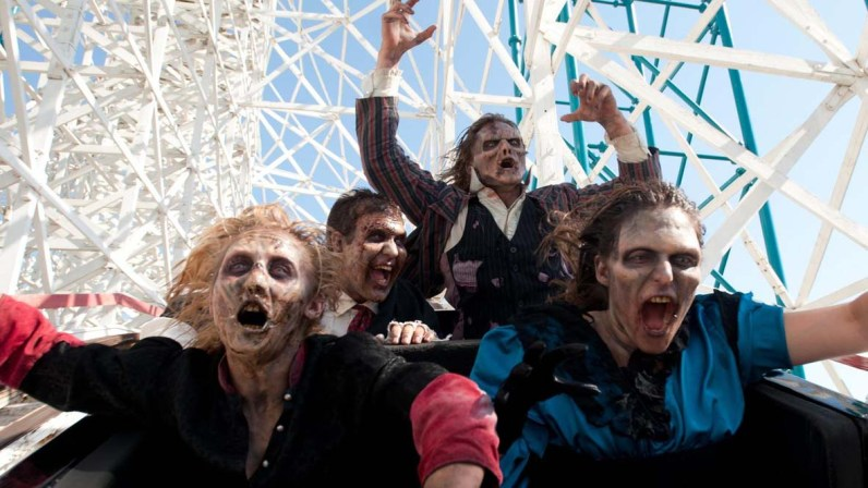 FrightFest four ghouls on roller coaster