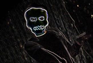 Haunted Shack 2014 skull face